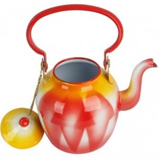 أباريق الشاي من خليط معدني ، احمر - مقاس 12 سم